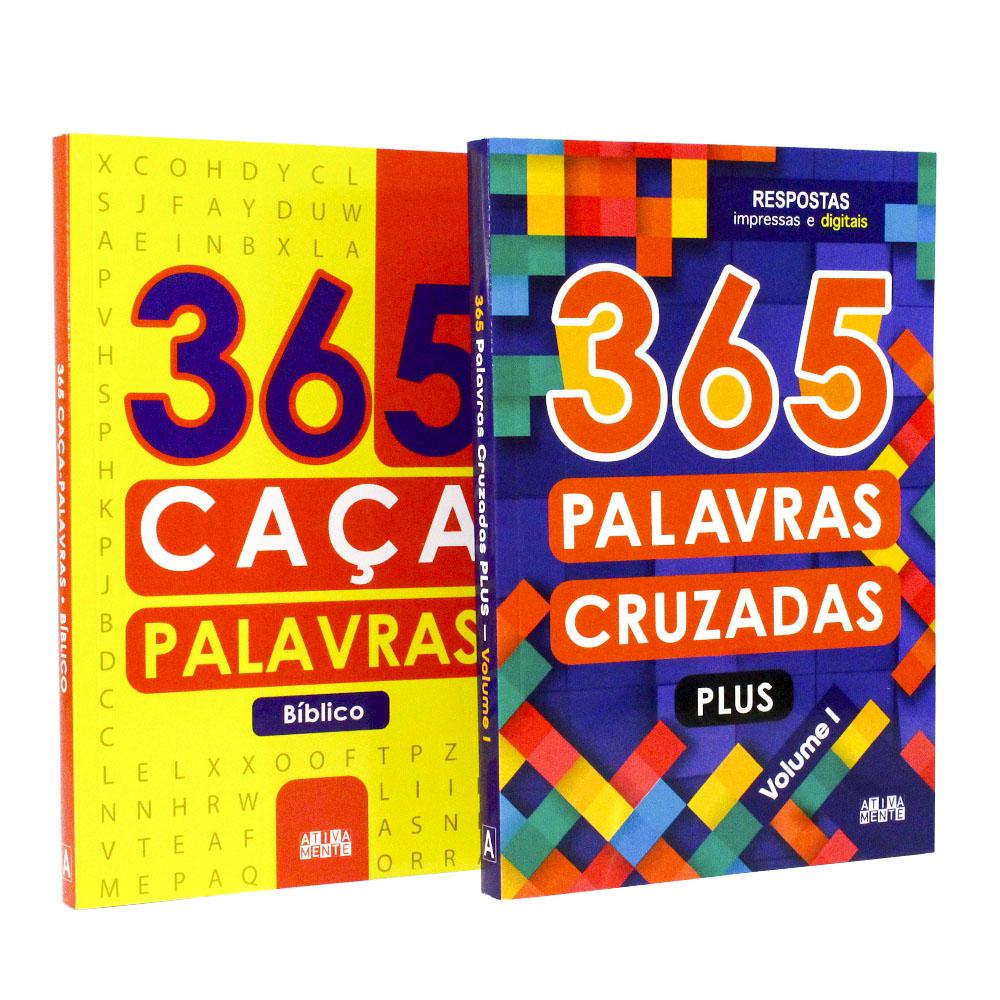 Kit 04 Livros | 365 Jogos Divertidos - Caça Palavras - Sudokus - Labirintos