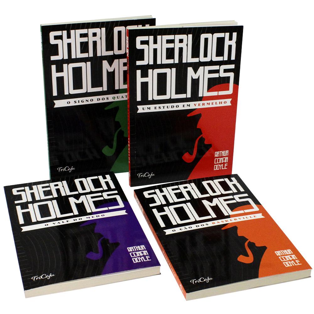 Kit 04 Livros | Sherlock Holmes | TriCaju