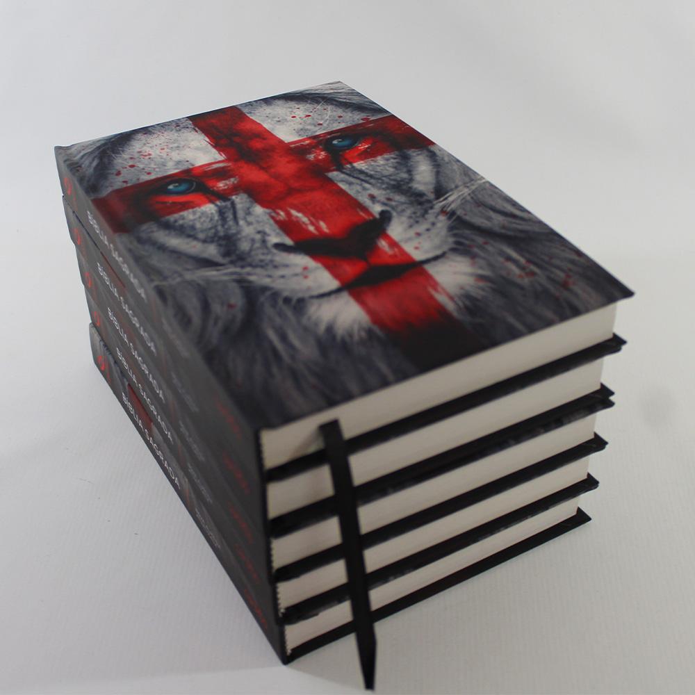 Kit 05 Bíblias NAA Leão Cruz | Capa Dura