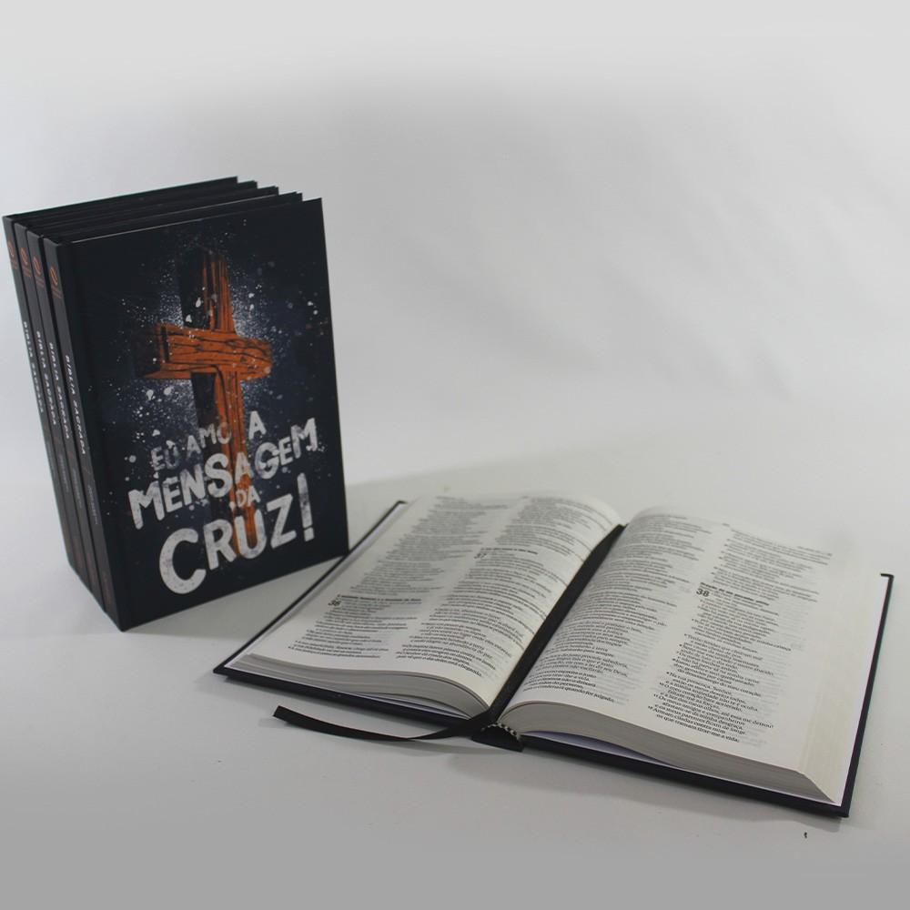 Kit 05 Bíblias NAA Mensagem da Cruz | Capa Dura