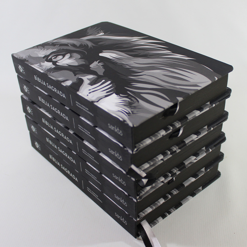 Kit 05 Bíblias NVT Colors Preto e Branco | Capa Dura
