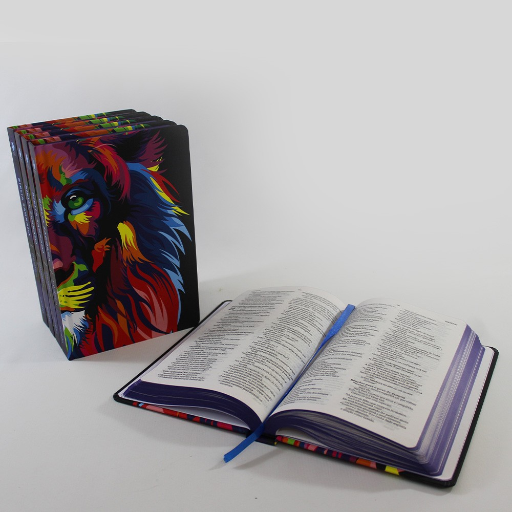 Kit 05 Bíblias NVT Lion Colors | Capa Dura