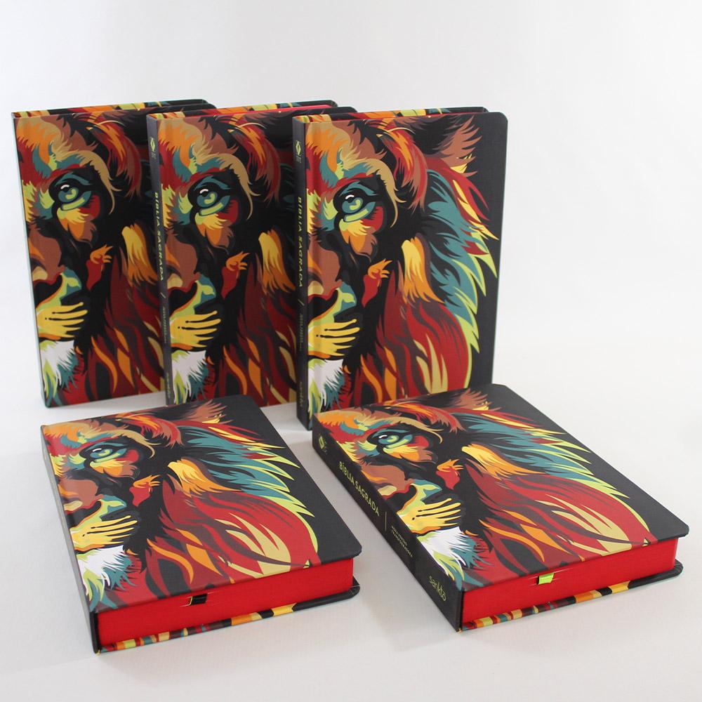 Kit 05 Bíblias NVT Lion Colors Nature | Capa Dura