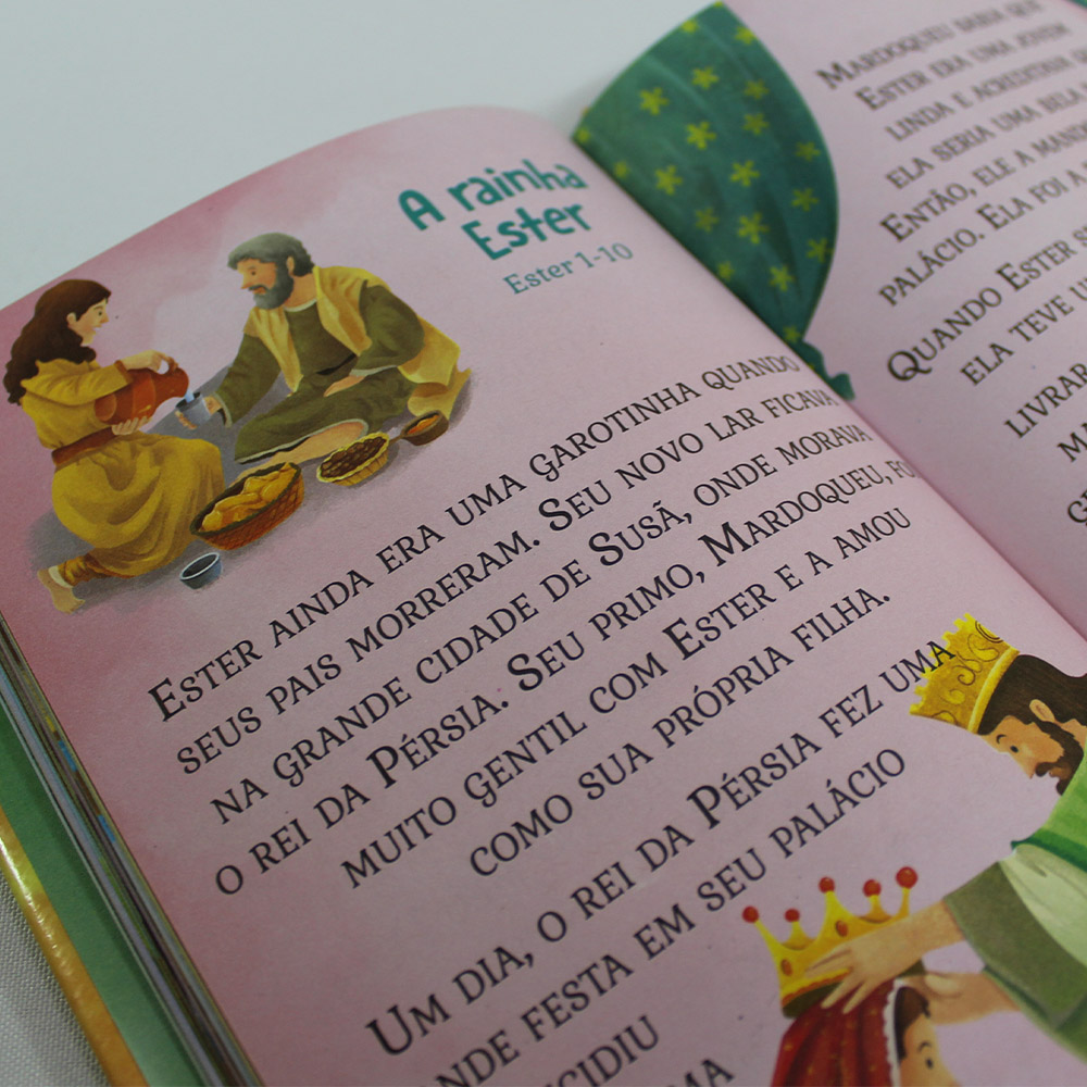 Kit 05 Livros | Bíblia Infantil | Letras Grandes