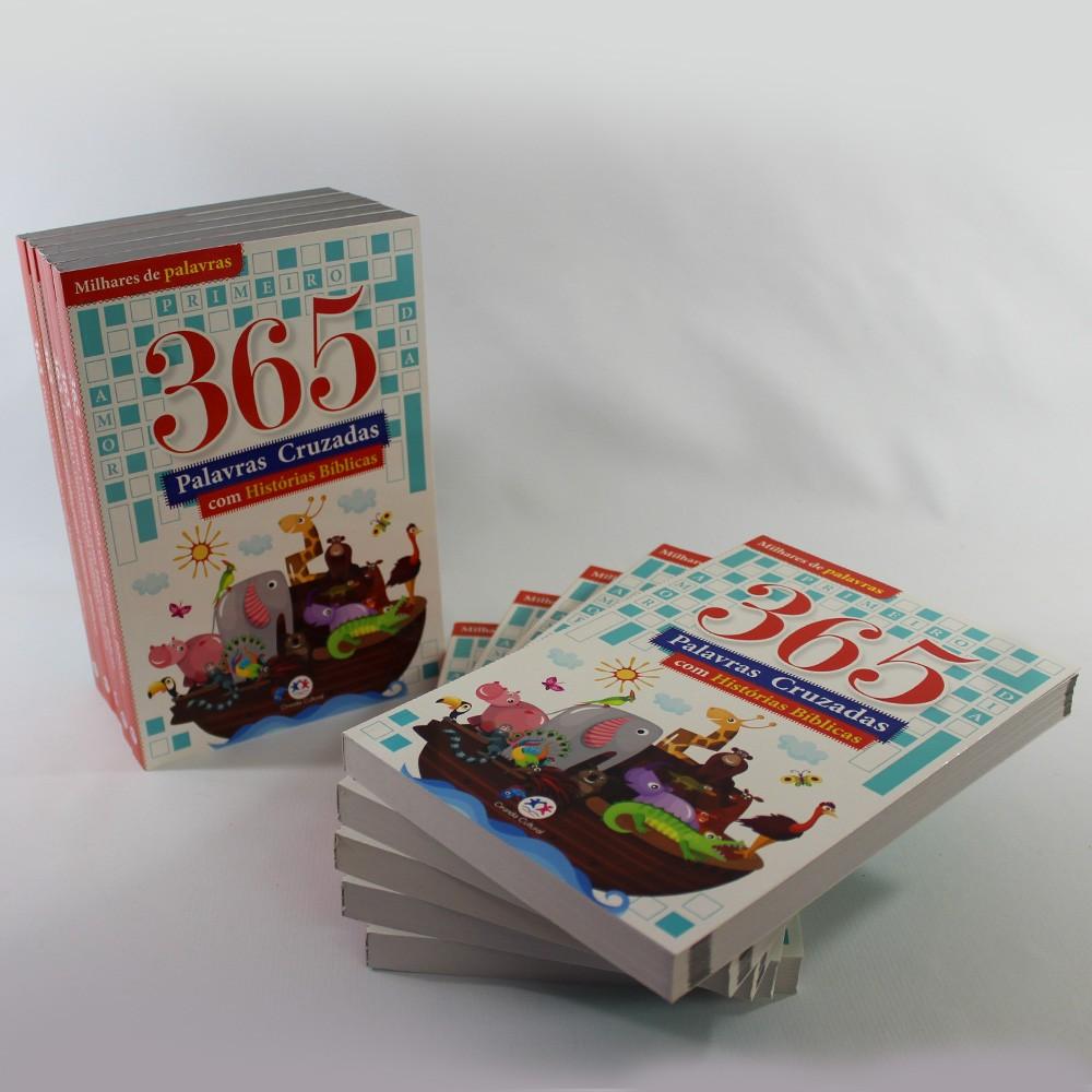Kit 10 365 Palavras Cruzadas com Histórias Bíblicas