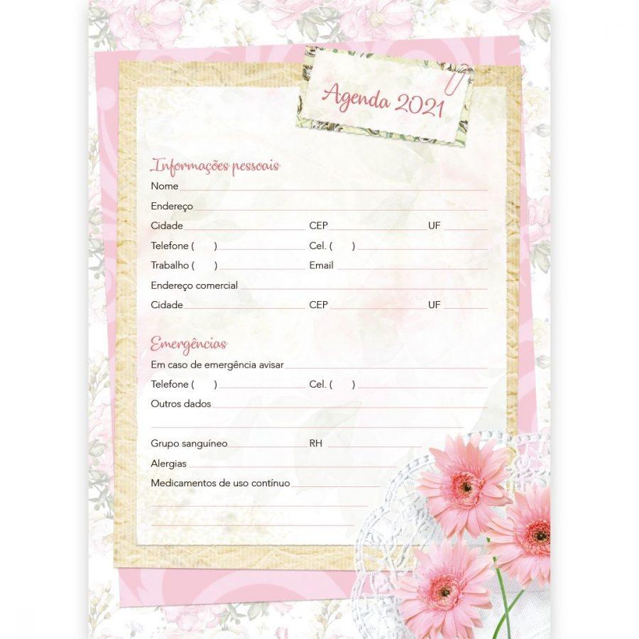Kit 10 Agenda 2021 Feminina Semanal - Pão Diário