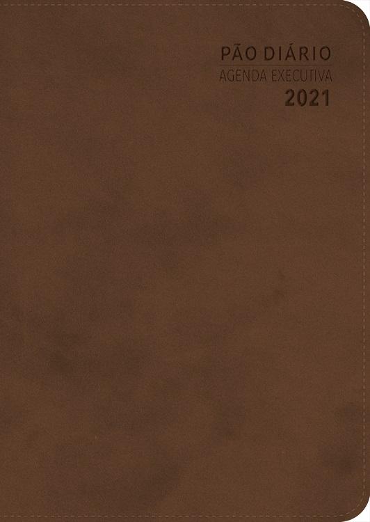 Kit 10 Agenda Executiva 2021 Pão Diário - Marrom
