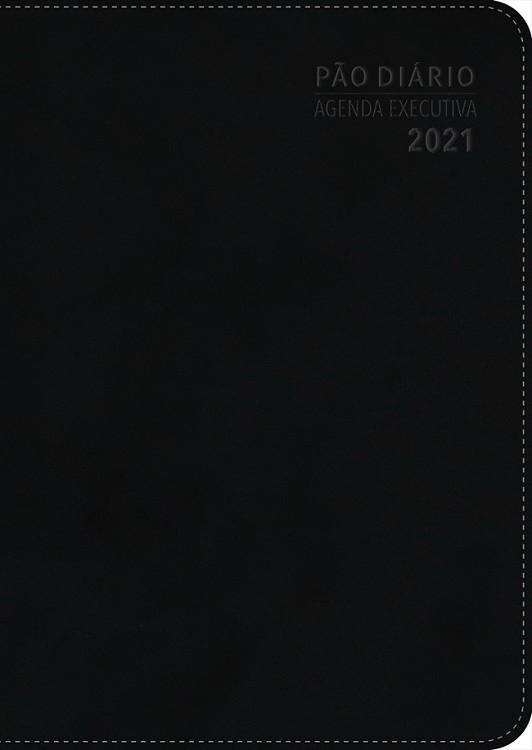 Kit 10 Agenda Executiva 2021 Pão Diário - Preta