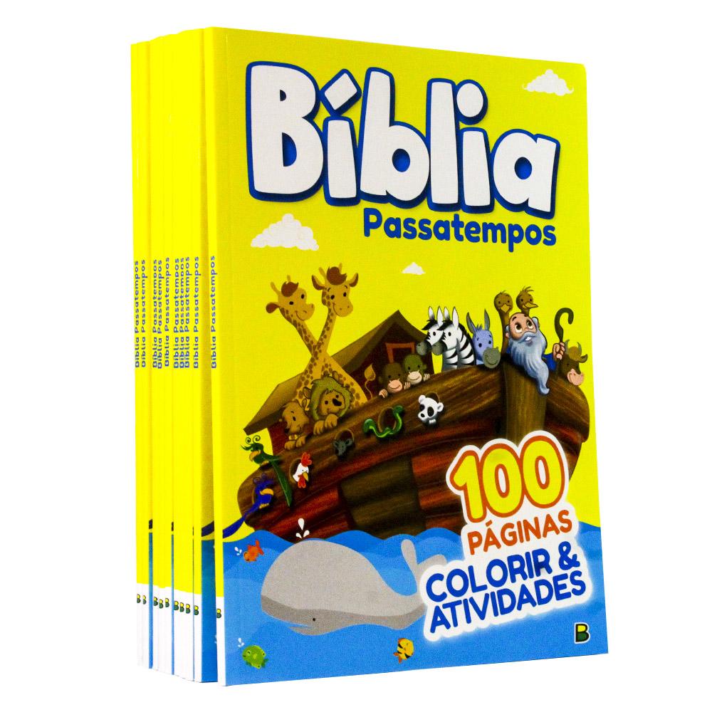 Kit 10 | Bíblia Passatempo | Colorir e Atividades