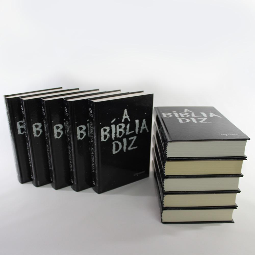 Kit 10 Bíblias Diz Letra Grande - Capa Giz