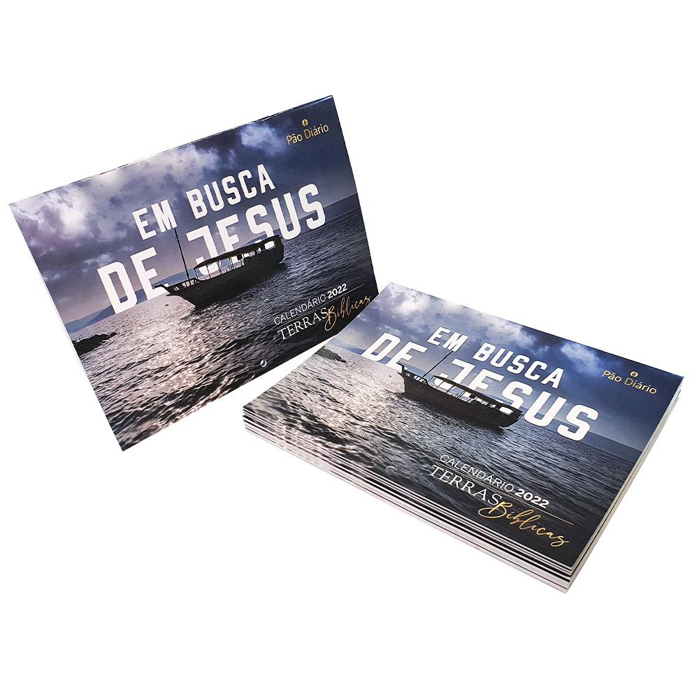 Kit 10 Calendário de Parede 2022 - Pão Diário Terras Bíblicas