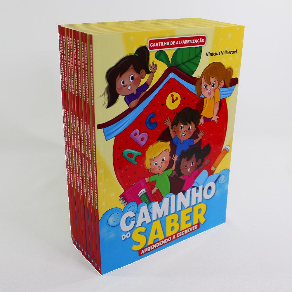 Kit 10 Cartilha de Alfabetização Caminho do Saber - Aprendendo a Escrever
