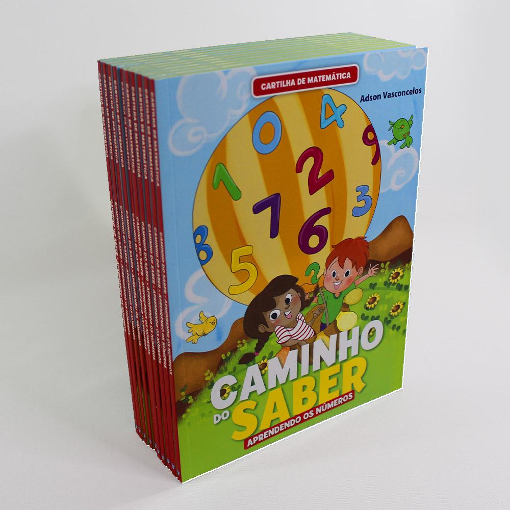 Kit 10 Cartilha de Matemática | Caminho do Saber | Aprendendo os Números