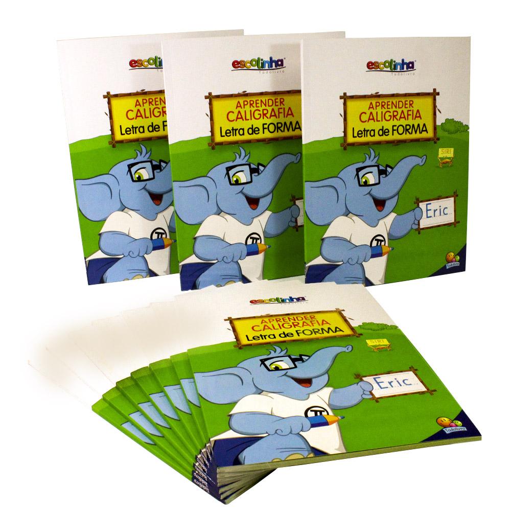 Kit 10 Livros | Aprender Caligrafia Letra de Forma | Escolinha Todolivro