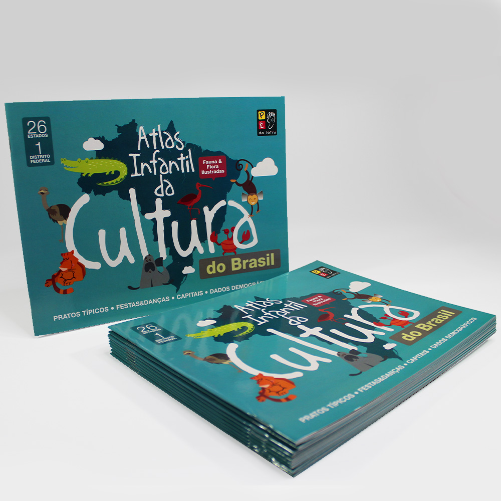 Kit 10 Livros | Atlas Infantil Da Cultura Do Brasil | Pé Da Letra