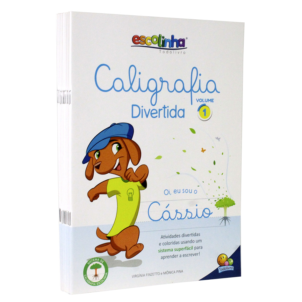 Kit 10 Livros | Caligrafia Divertida III - Vol. 1 | Escolinha Todolivro