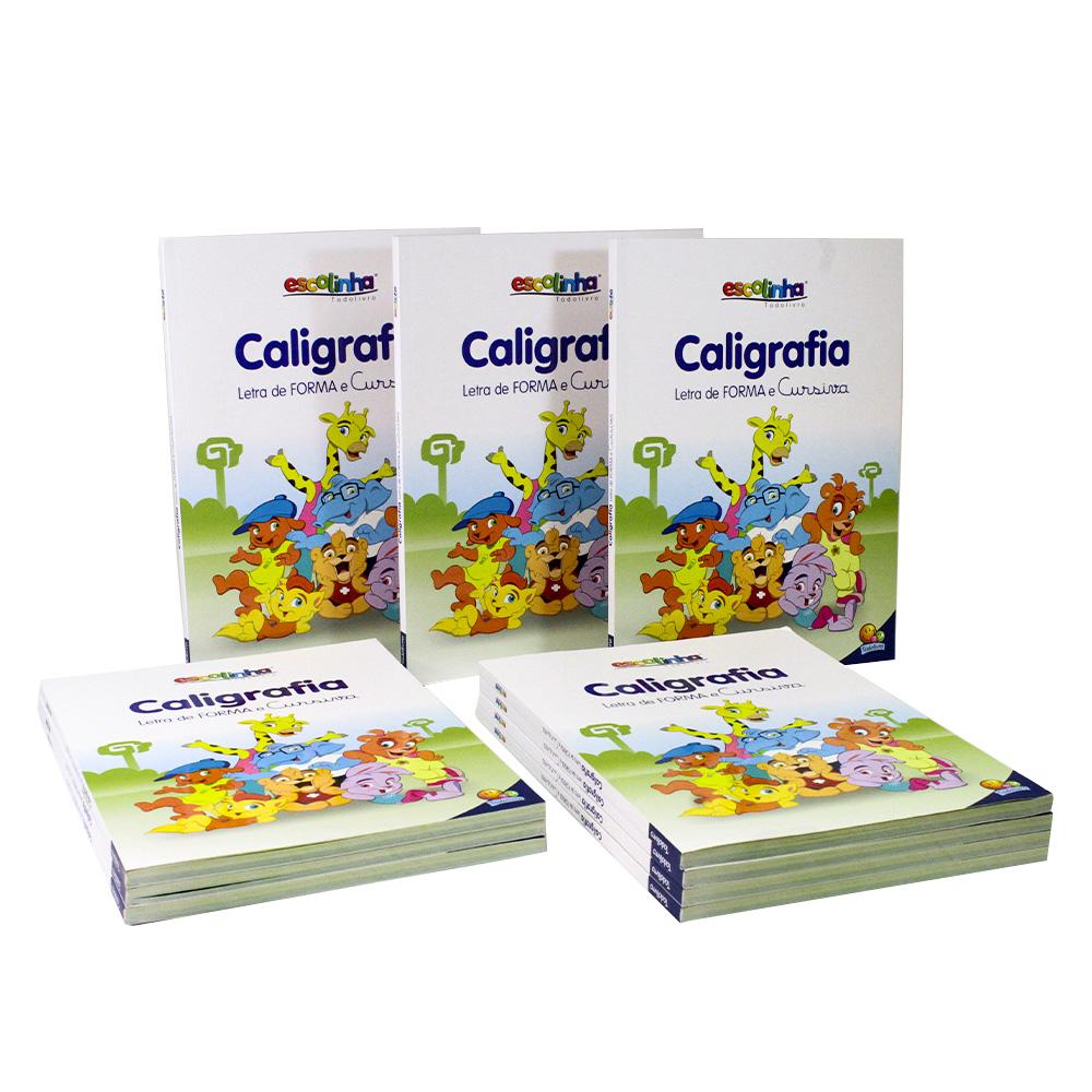 Kit 10 Livros | Caligrafia Letra de Forma e Cursiva | Escolinha Todolivro