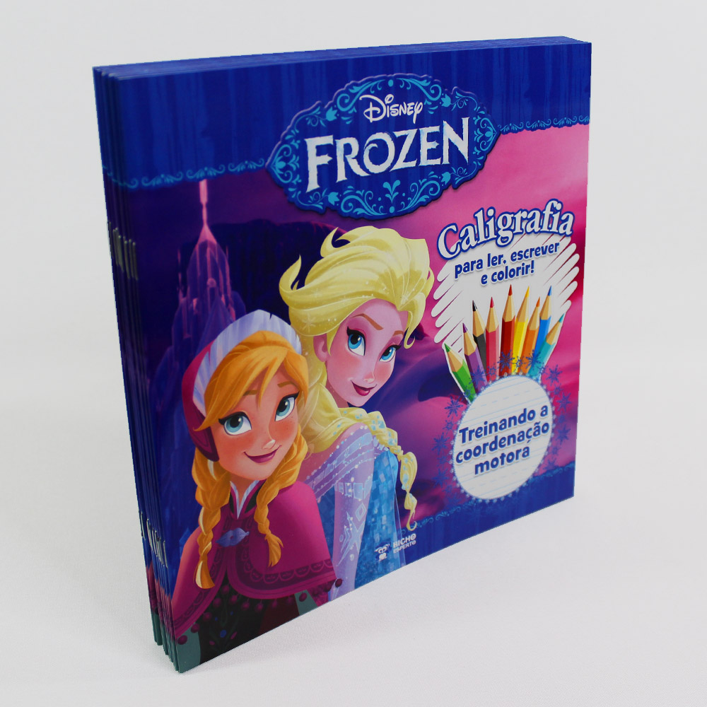 Kit 10 Livros | Caligrafia Treinando Coordenação Motora | Frozen Disney