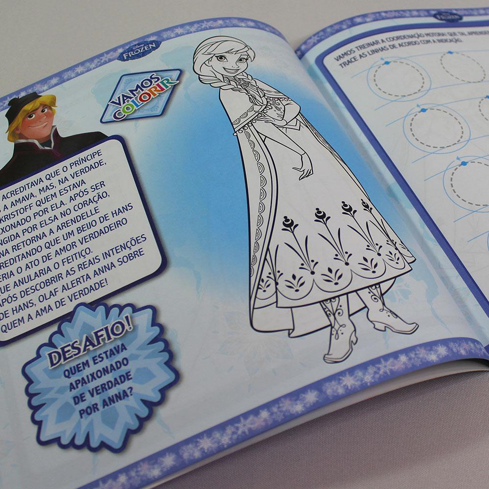 Kit 10 Livros   Caligrafia Treinando Coordenação Motora   Frozen Disney