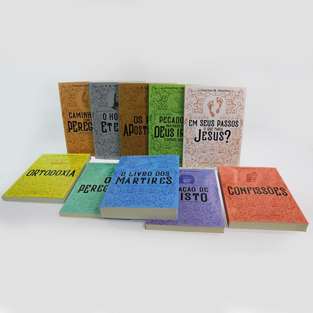 Kit 10 livros   Clássicos da Literatura Cristã