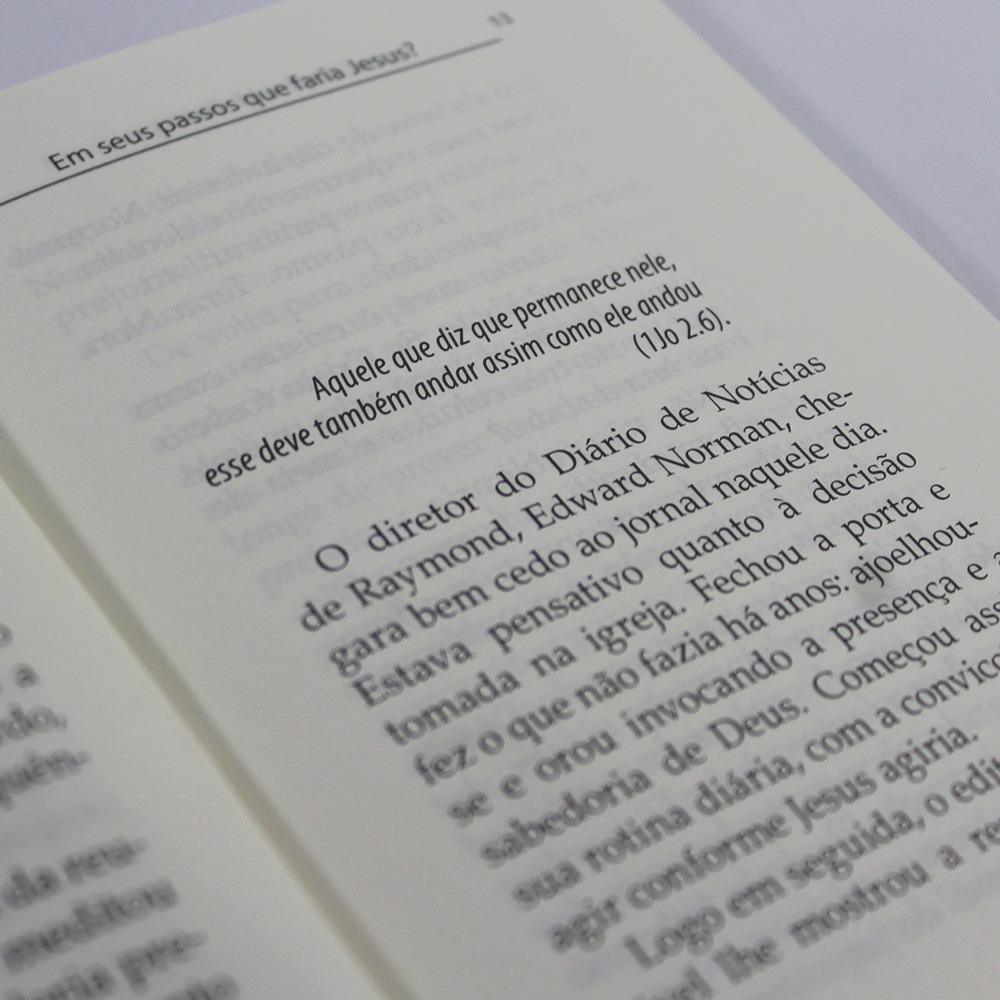 Kit 10 Livros   Em seus Passos que faria Jesus? Edição de Bolso