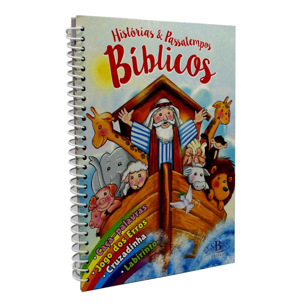 Kit 10 Livros - Histórias e Passatempos Bíblicos