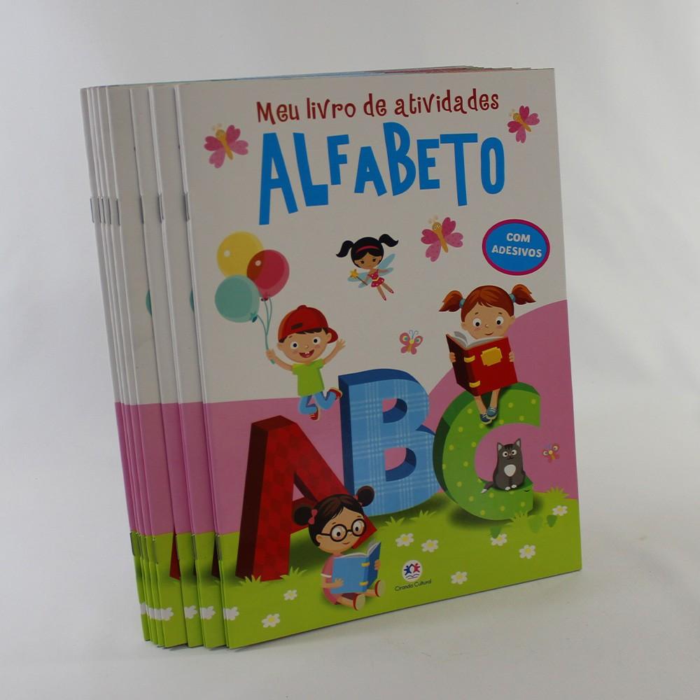 Kit 10 Livros - Meu Livro de Atividades - Alfabeto