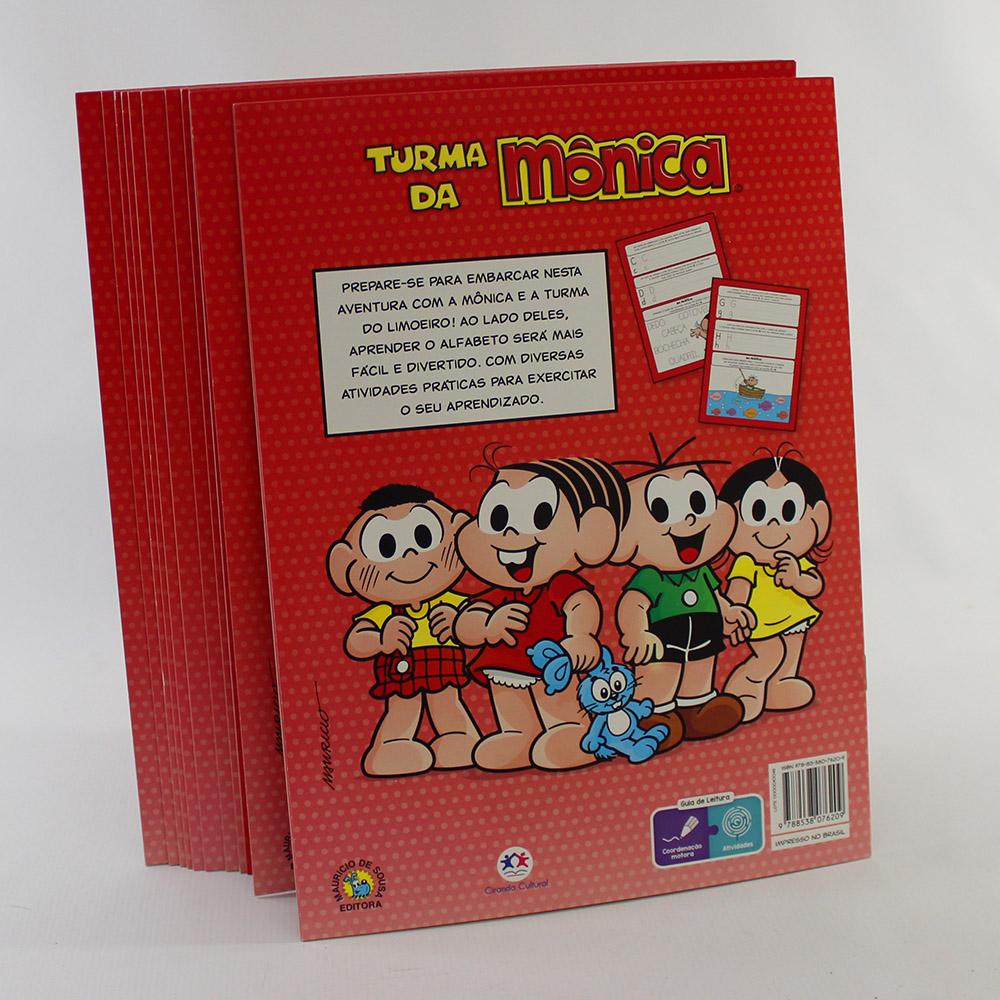 Kit 10 Livros | Turma Da Mônica | Vamos Aprender O Alfabeto