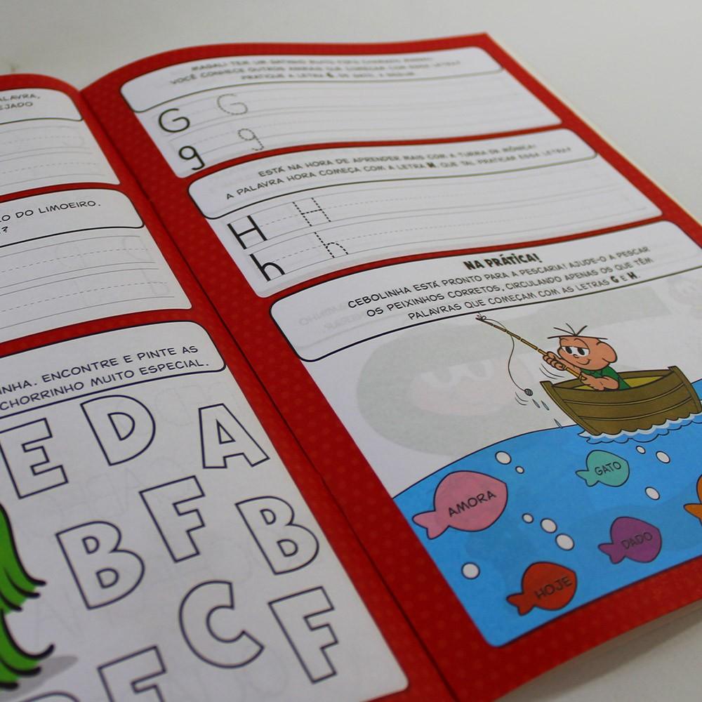 Kit 10 Livros Turma da Mônica - Vamos Aprender o Alfabeto