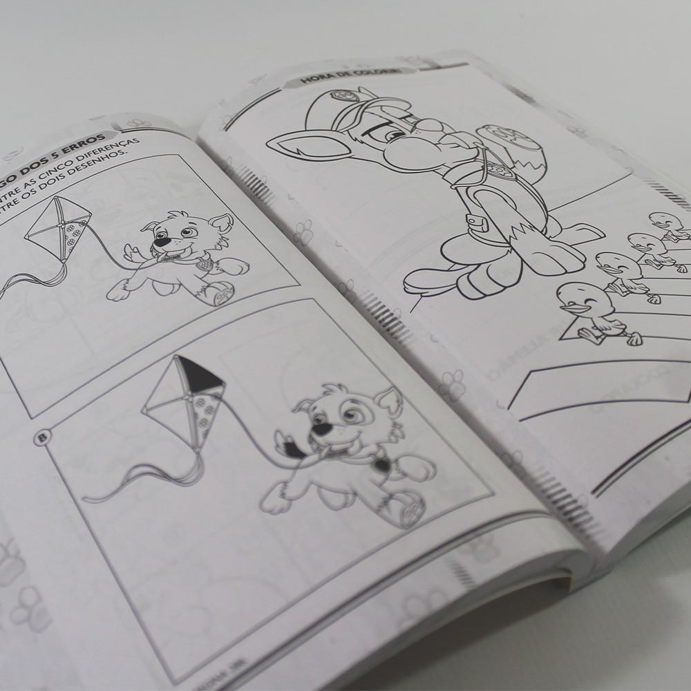 Kit 10 Patrulha Canina - 365 Atividades e Desenhos para Colorir