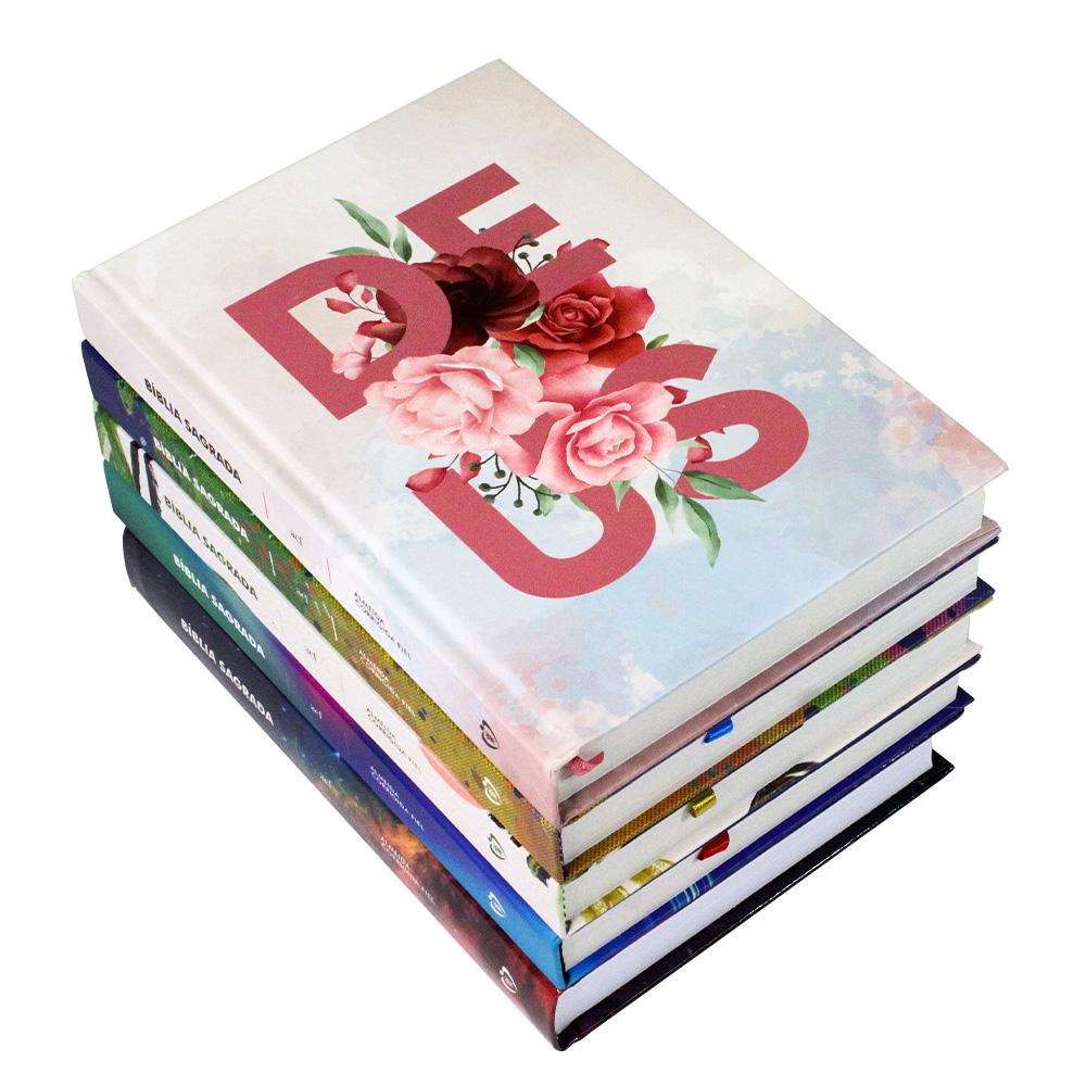 Kit 2 Bíblia Sagrada | Capa Dura | Coleção ACF | 05 Unidades