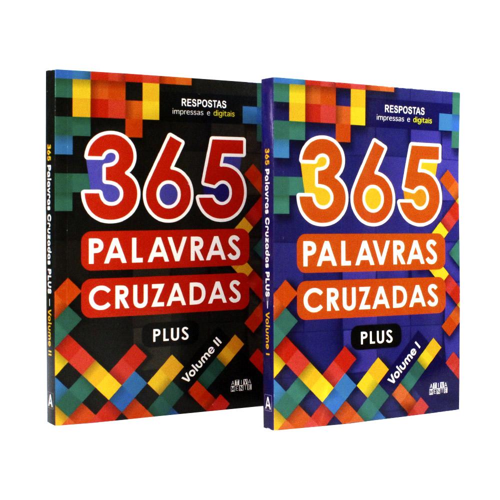 Kit 2 Livros | 365 Palavras Cruzadas Plus Vol. 1 e Vol. 2