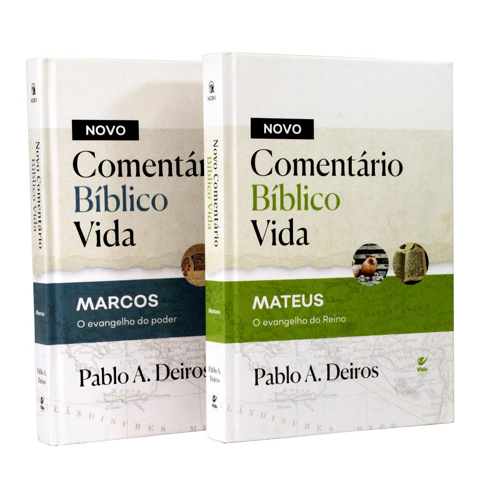 Kit 2 Livros | Capa Dura | Novo Comentário Bíblico Vida Mateus e Marcos