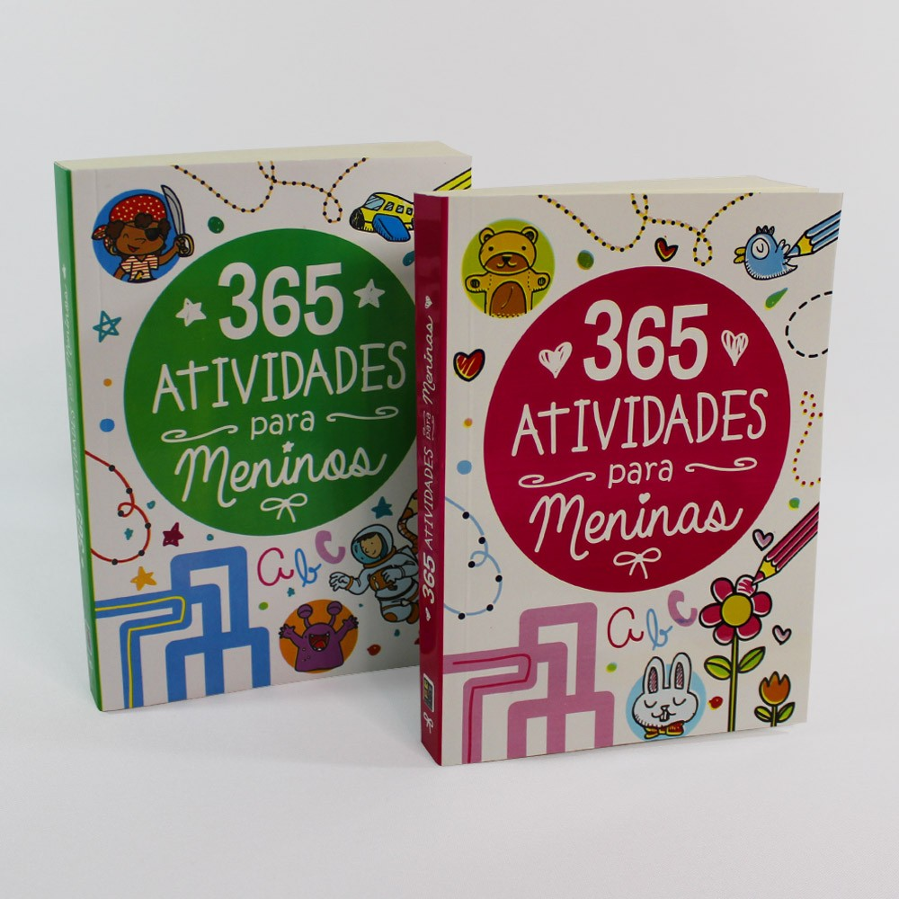 Kit 365 Atividades | Meninos e Meninas | 02 Livros
