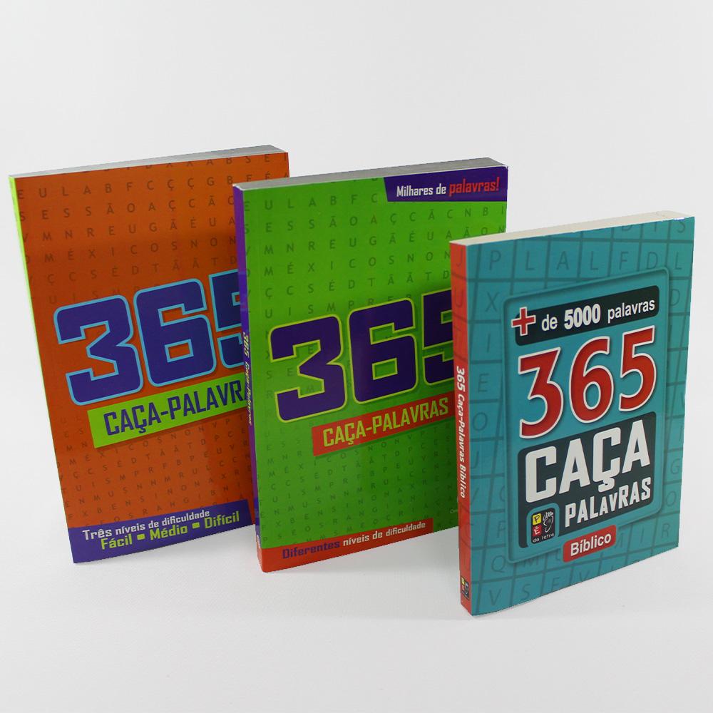 Kit 365 Caça Palavras | 03 Livros