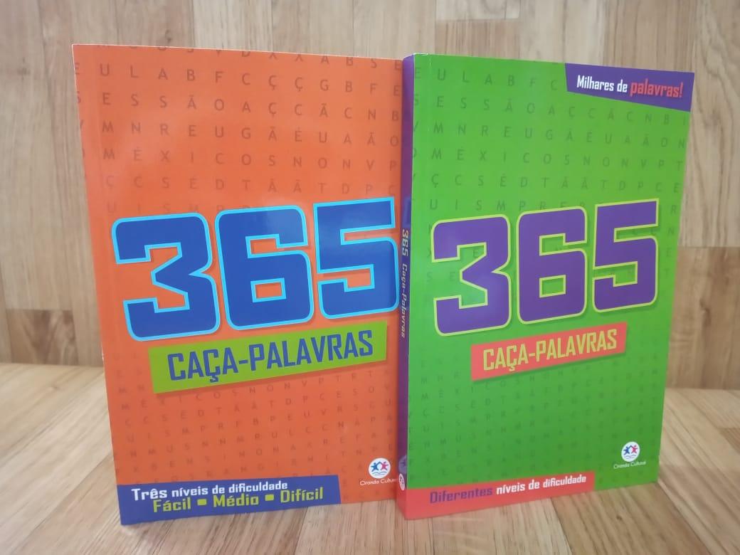 Kit 365 Caça Palavras vol. 01 | 365 Caça Palavras vol. 2