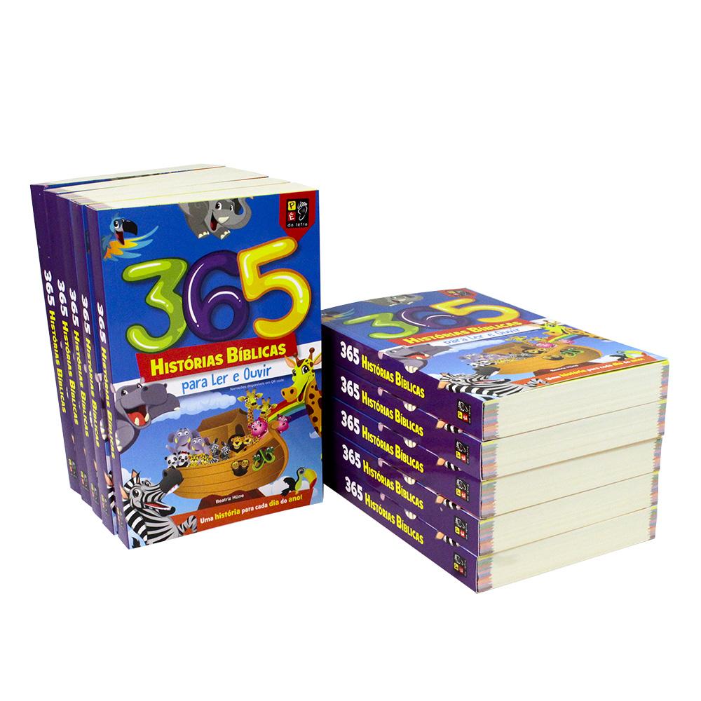 Kit 365 Histórias Bíblicas para Ler e Ouvir | 10 Livros