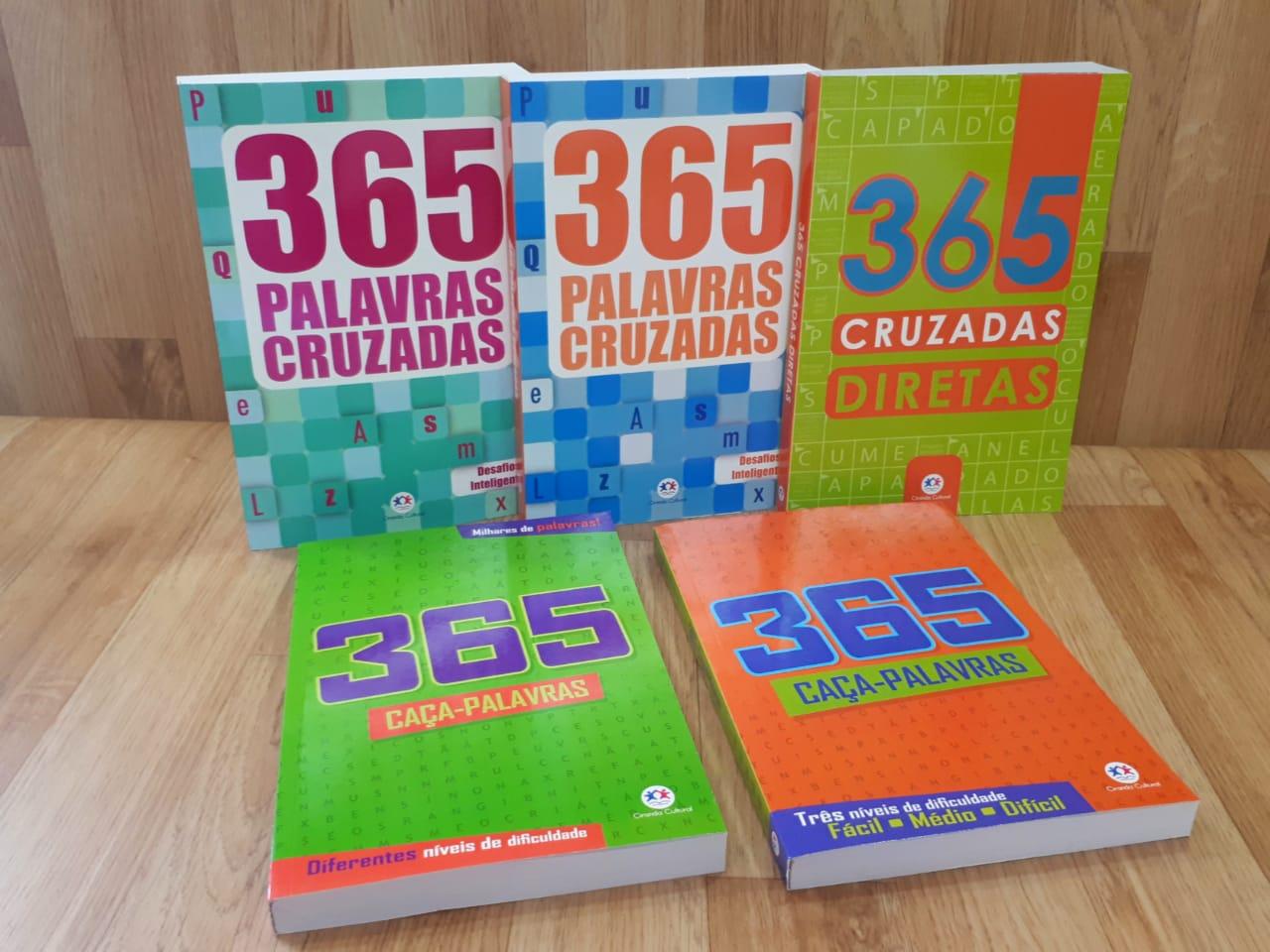 Kit 365 Palavras Cruzadas e Caça Palavras | 05 Livros