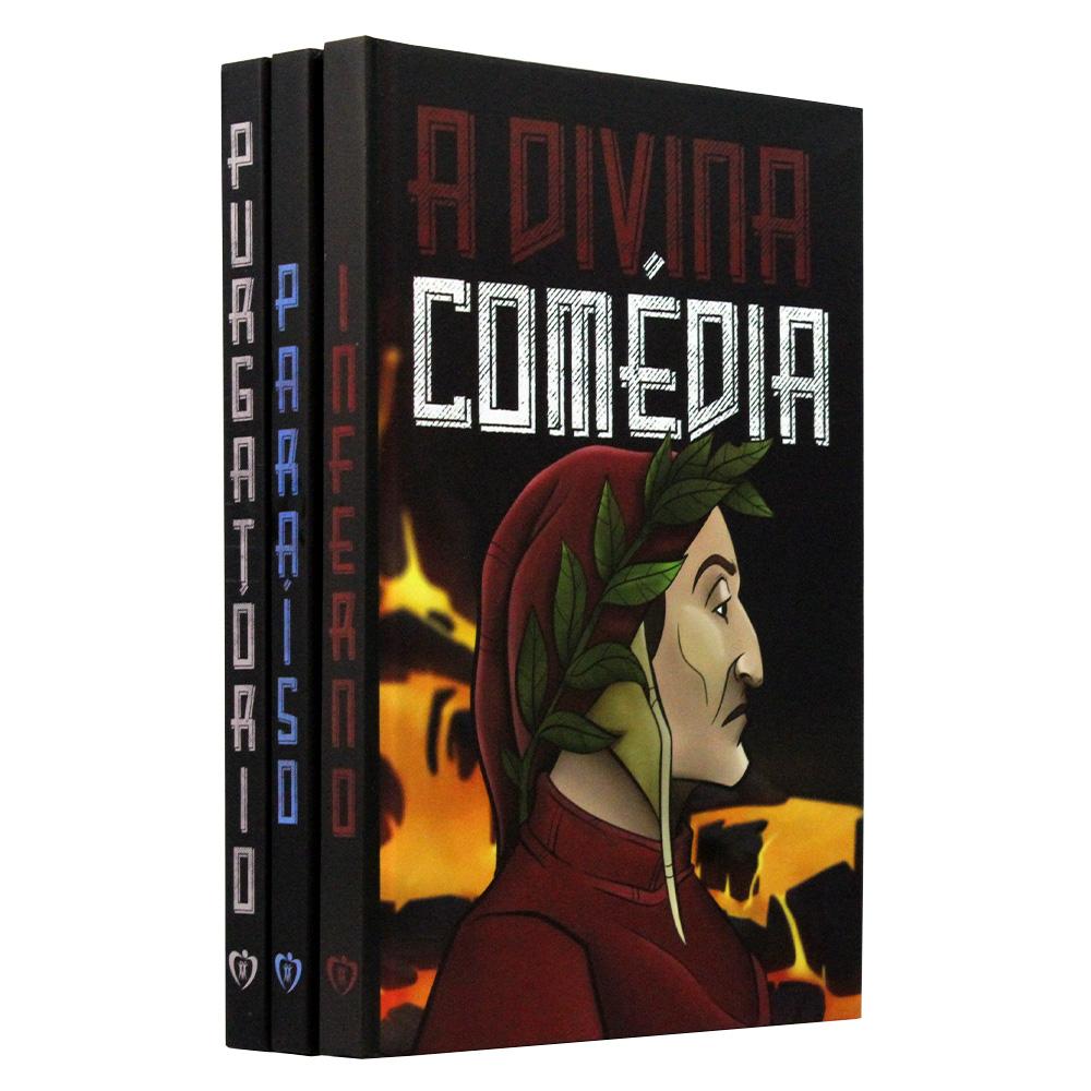 Kit 3 Livros - A Divina Comédia | Dante Alighieri | Capa Dura