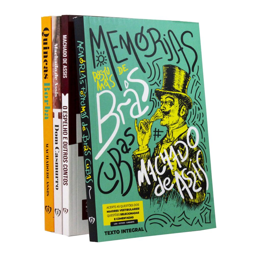 Kit 4 Livros | Vestibular | Machado de Assis - Clássicos da Literatura Brasileira