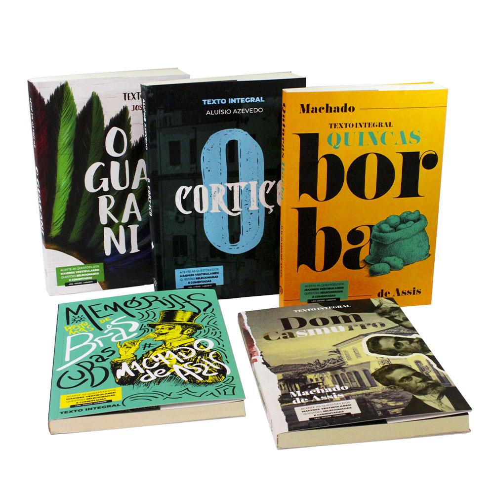 Kit 5 Livros | Vestibular | Clássicos da Literatura Brasileira