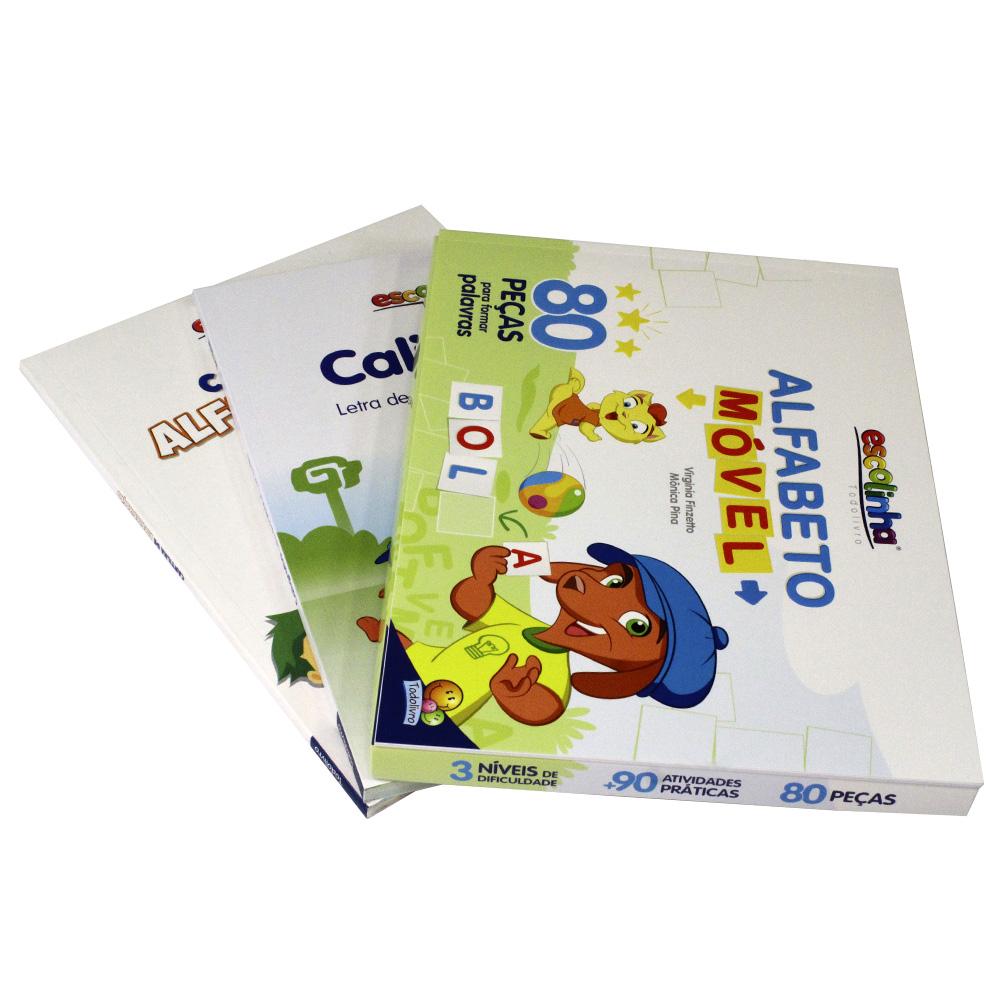 Kit Alfabeto Móvel | Cartilha de Alfabetização | Caligrafia Letra de Forma e Cursiva