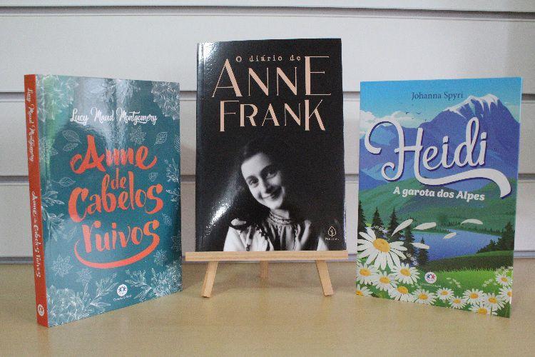 Kit O Diário de Anne Frank | Heidi | Anne de Cabelos Ruivos