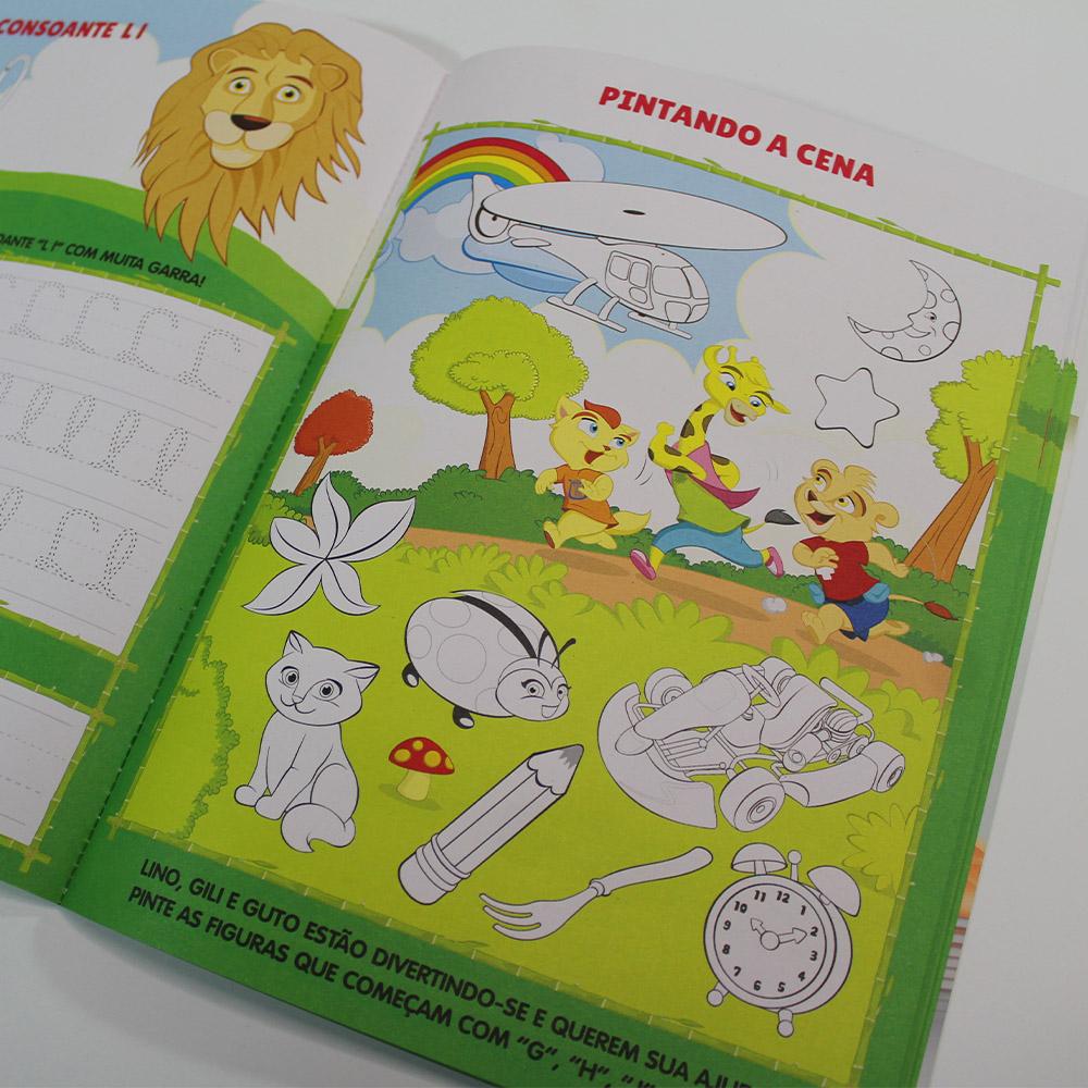 Kit Aprender Caligrafia | Letra Cursiva | 10 Livros | Escolinha Todolivro