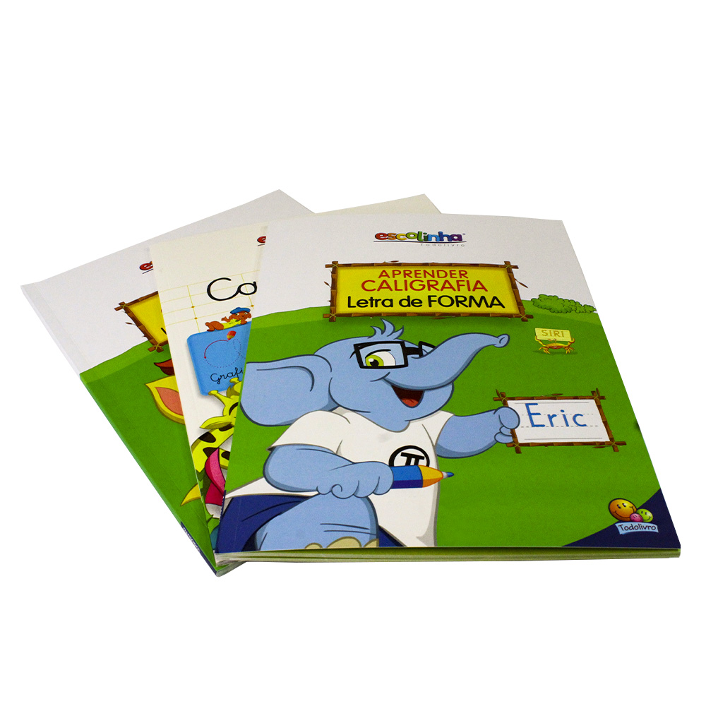 Kit Aprender Caligrafia Letra Cursiva   Letra de Forma + Caderno de Caligrafia