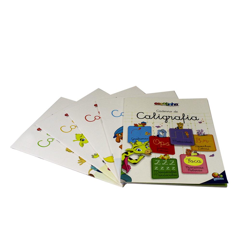Kit Caligrafia Divertida | Volumes 1, 2, 3 e 4 + Caderno de Caligrafia