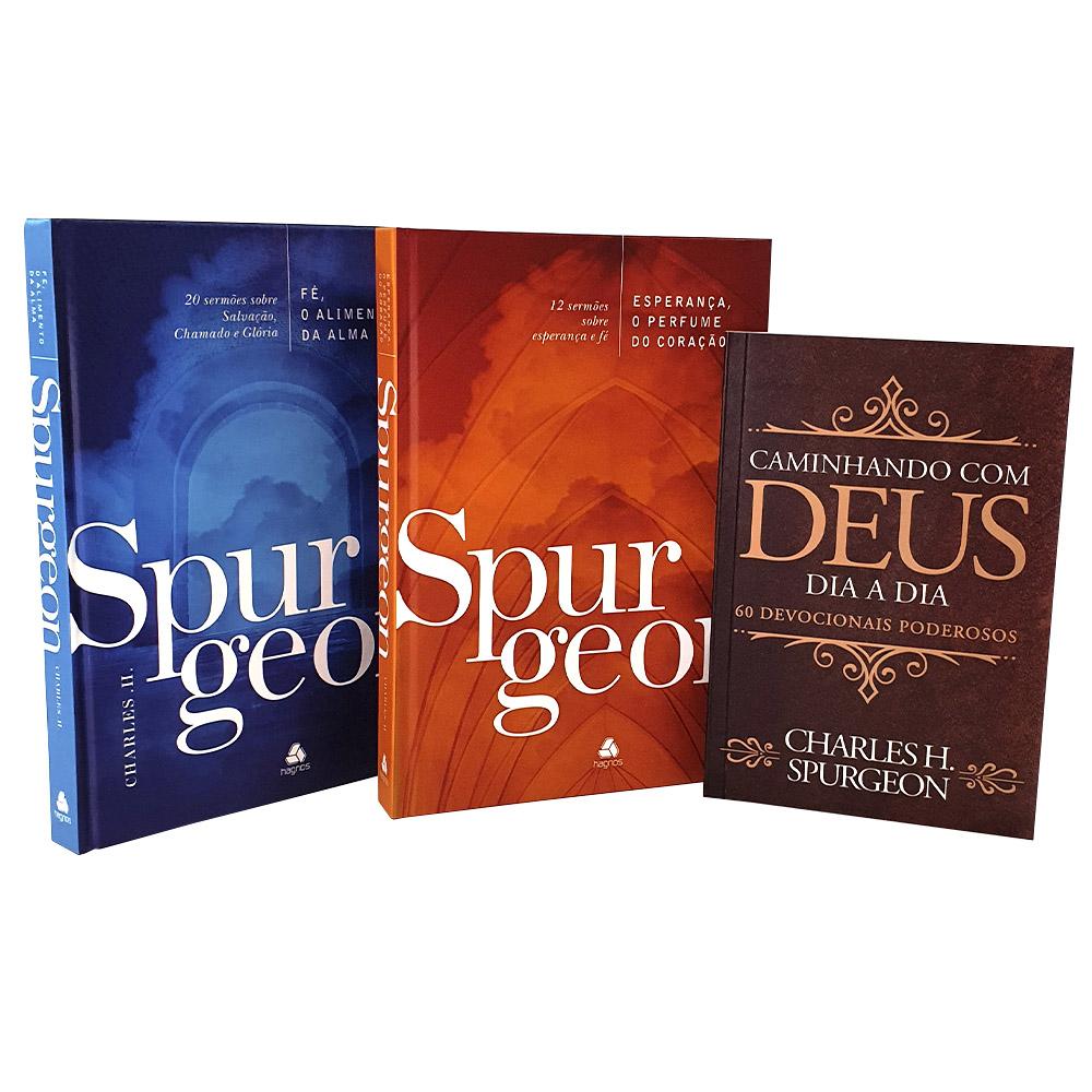 Kit Charles Spurgeon 03 Livros | Sermões + Devocional Caminhando com Deus