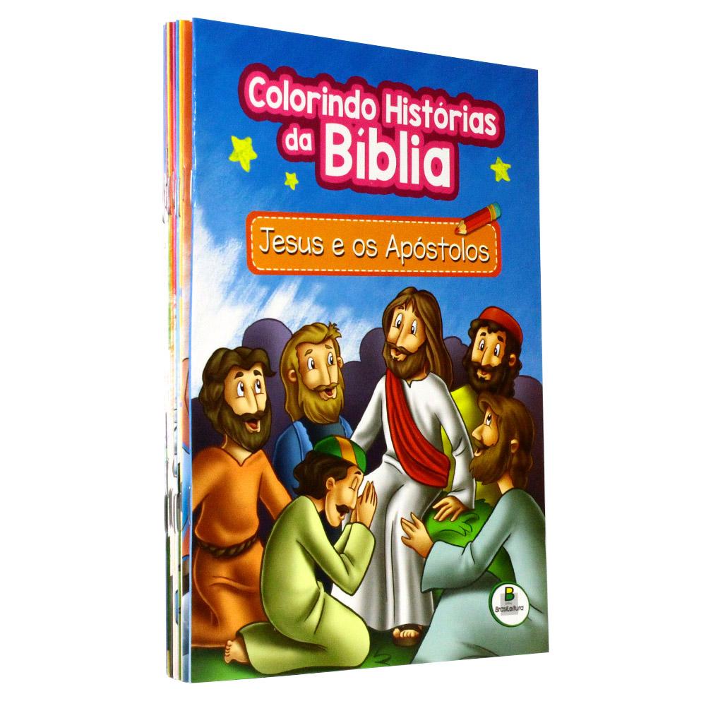 Kit - Colorindo Histórias da Bíblia | 10 livros