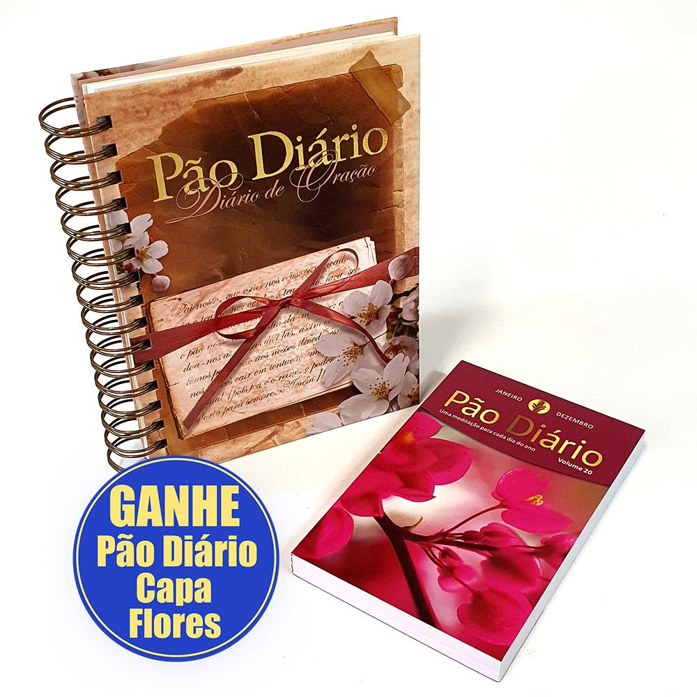Kit Diário de Oração - Pai Nosso + Pão Diário Flores Vol. 20 [GRÁTIS]