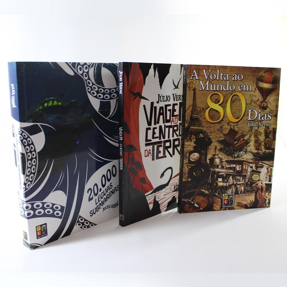 Kit Júlio Verne | 3 Livros | Pé da Letra
